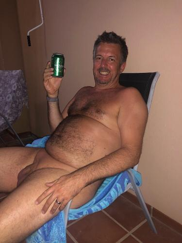 Chilling with a beer